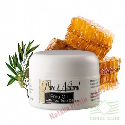 «Бальзам для кожи «Жир Эму с маслом чайного дерева» - Emu oil with Tea Tree oil»
