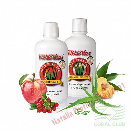 «Алоэ вера с клюквенно-яблочным и персиковым вкусом - TruAloe Cranapple flavor»